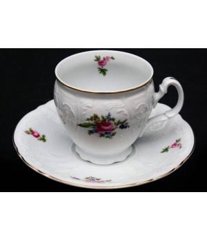 """Набор для чая 160мл. выс. н/н """"Полевой цветок 5309011"""" на 6перс.12пред, наб."""