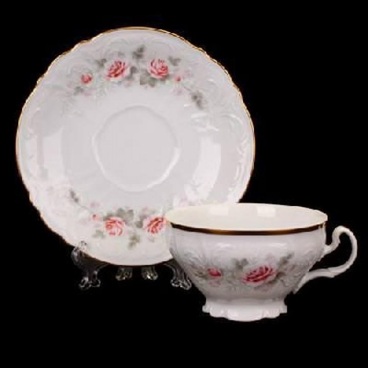 "Набор для чая на 6перс.12пред. низ. н/н ""Роза серая 5396011"", наб."