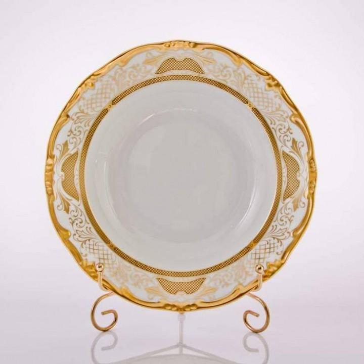 """Набор глубоких тарелок 24см.6шт.""""Симфония Золотая"""", наб."""
