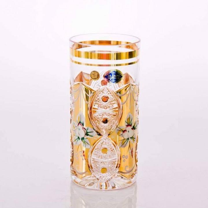"""Набор стаканов """"Хрусталь с золотом"""" 350мл., наб."""