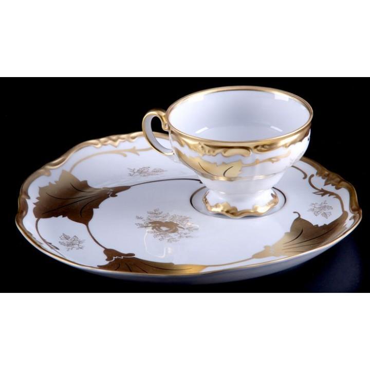 """Набор чайный на 1перс.2пред.""""Кленовый лист белый Эгоист"""", наб."""