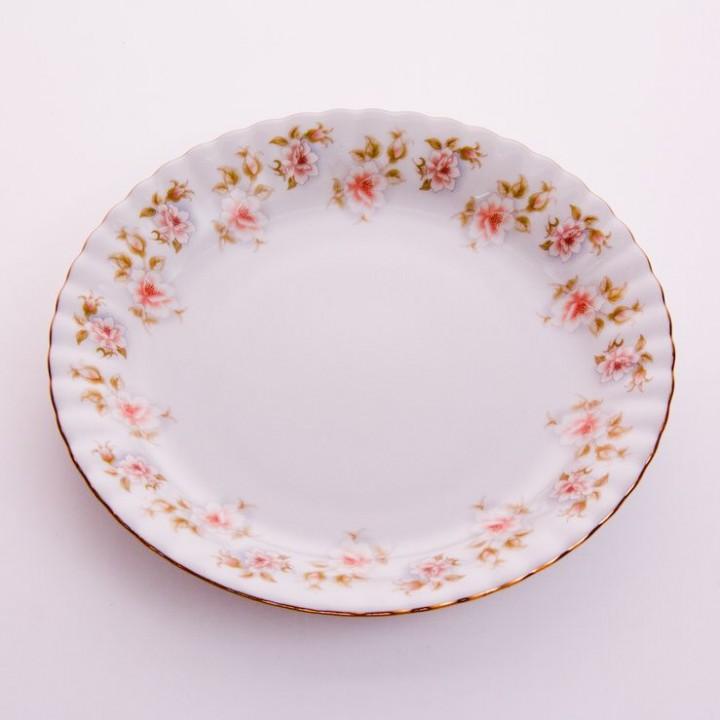 """Набор тарелок """"Цветы Рельеф золото"""" 24см.6шт."""