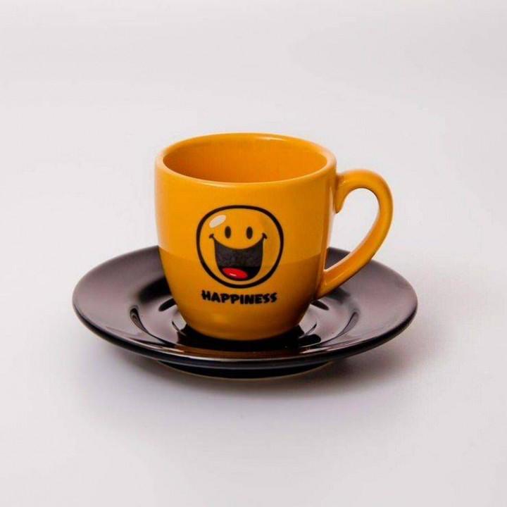 "Набор для эспрессо 2 пред.65 мл.11,5см. ""Вехтерсбах-Smiley Best Friends"""