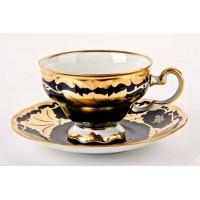 """Набор чайный на 6перс.12пред.подарочный """"Кленовый лист синий"""", наб."""