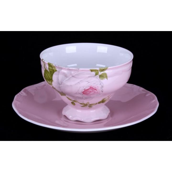 """Набор чайный 210 мл. на 6перс 12 пред. """"Алвин розовый"""""""