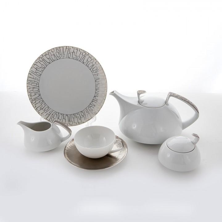 """Сервиз чайный""""Тацскин платин"""" на 6перс. 21пред."""