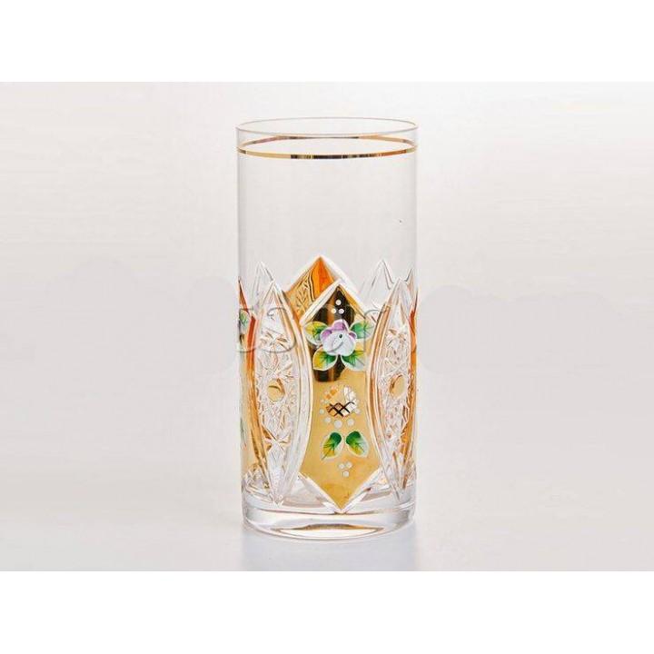 """Набор стаканов """"Хрусталь с золотом"""" 380мл., наб."""