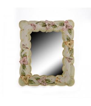 "Рамка- Зеркало 35x29x5см. ""Цветы"", шт"