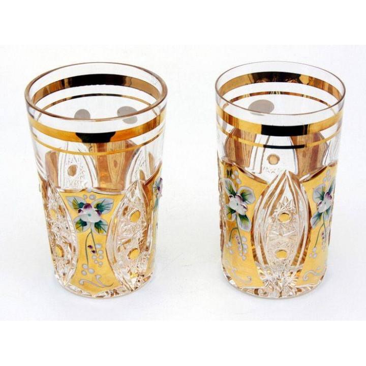 """Набор стаканов """"Хрусталь с золотом"""" 250 мл."""