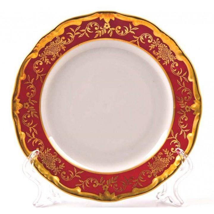 """Набор тарелок 17см.6шт """"Ювел красный """" , наб."""