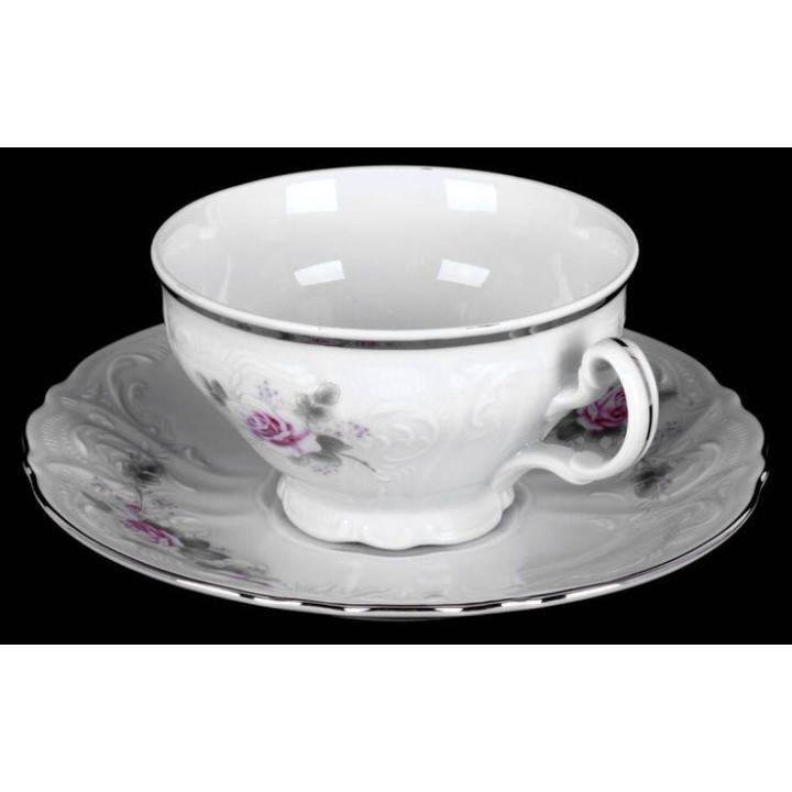 "Набор для чая на 6перс.12пред. низ. н/н ""Роза серая платина 5396021"", наб."