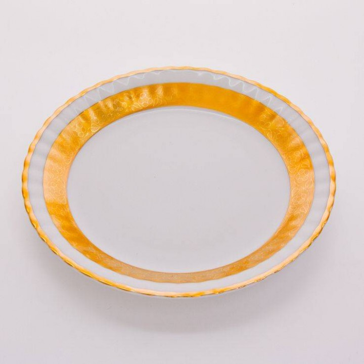 "Набор тарелок""Лента Рельеф золото"" 24см.6шт."