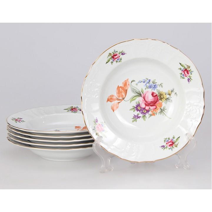 """Набор глубоких тарелок 23см.6шт. """"Полевой цветок 5309011"""" , наб."""