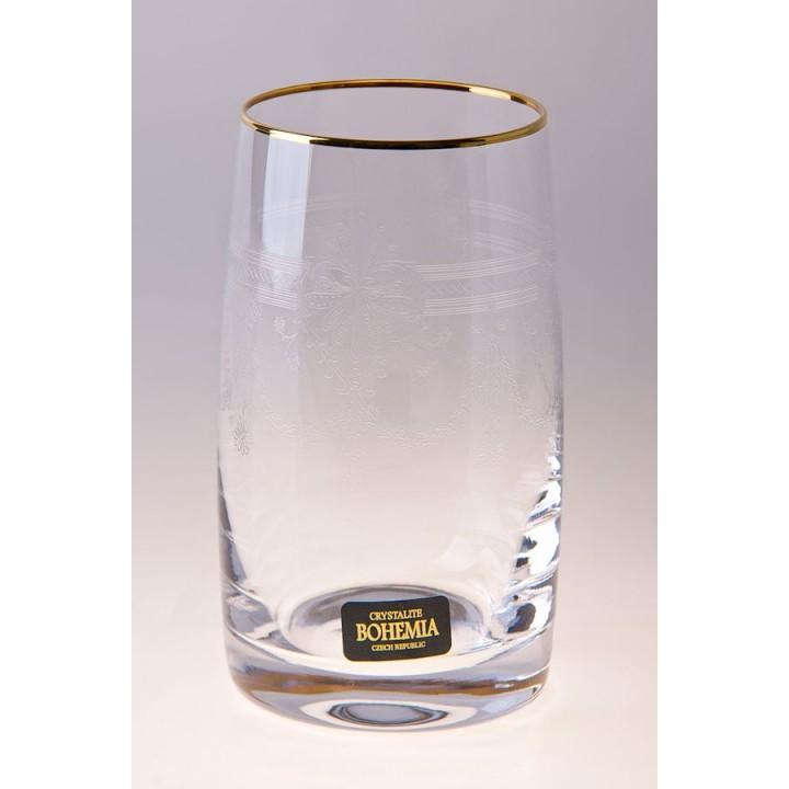 """Набор стаканов 250 мл """"Клаудия Золото 431263 """""""