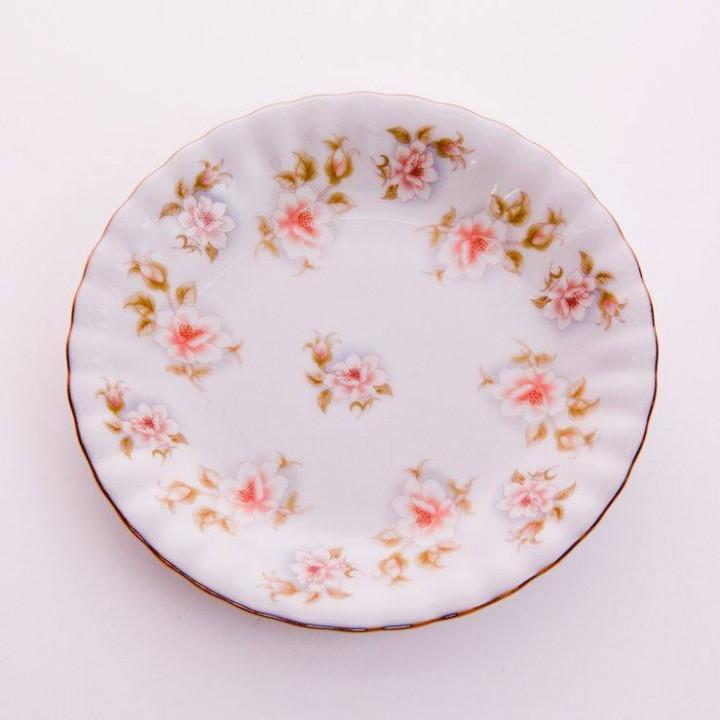 """Набор тарелок """"Цветы рельеф золото"""" 17см.6шт., наб."""