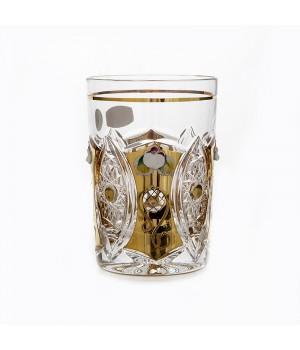 """Набор стаканов 280мл.6шт.""""Хрусталь с золотом"""" , наб."""