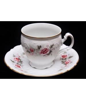 """Набор для чая на 6перс.12пред. выс. н/н """"Роза серая 5396011"""", наб."""