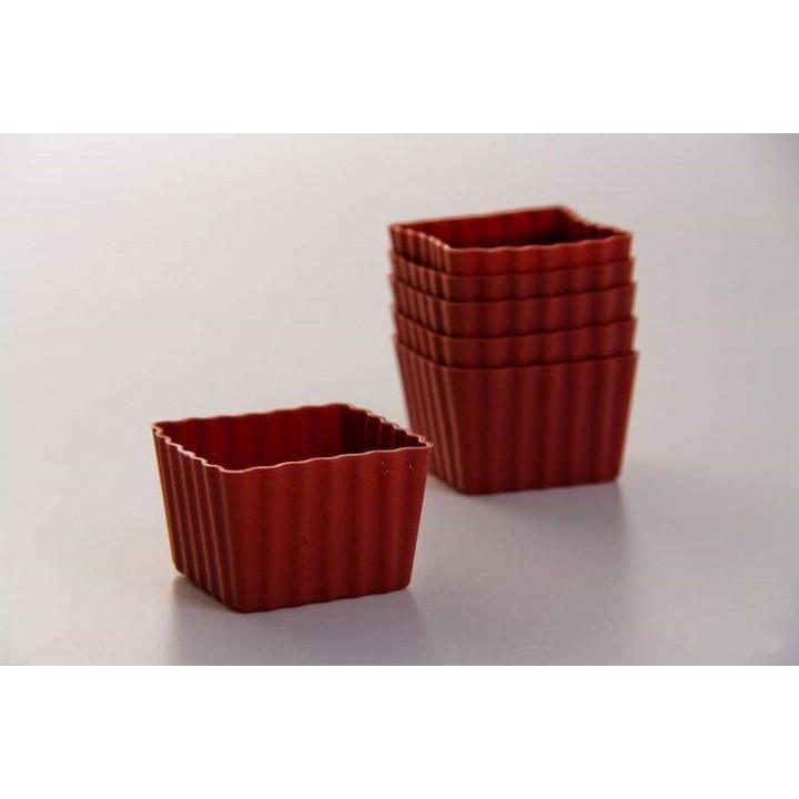 "Форма для кекса""Самбонент"" 6шт (квадрат)"