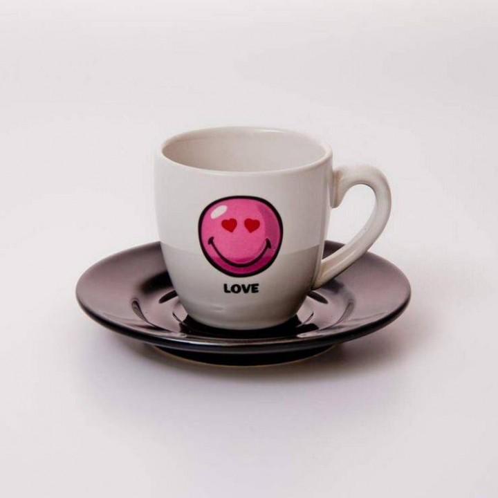 "Набор для эспрессо 2пред.65мл.11,5см.""Вехтерсбах-Smiley Love"""