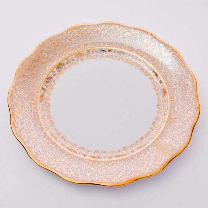 """Набор тарелок 24см.6шт.""""Лист бежевый"""" , наб."""