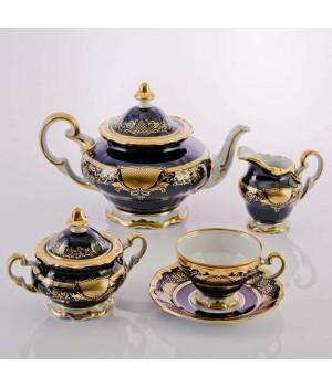 """Сервиз чайный на 6перс.21пред.подарочный """"Симфония Кобальт"""", наб."""