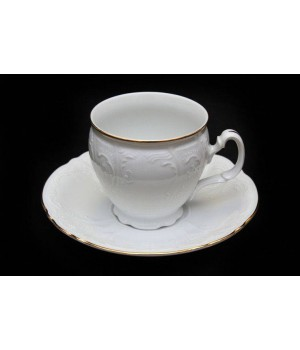 "Набор для чая ""Бернадот белый 311011"" на 6перс.12пред., наб."