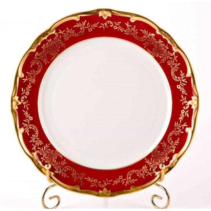 """Набор тарелок 24см.6шт """"Ювел красный """" , наб."""