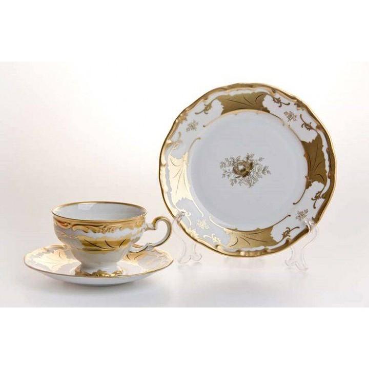 """Набор чайный 6перс.18пред./ подарочный """"Кленовый лист белый"""", наб."""