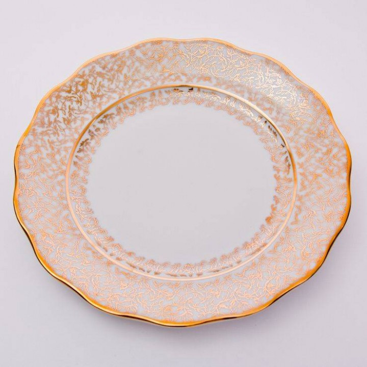 """Набор тарелок 24см.6шт.""""Лист белый"""", наб."""