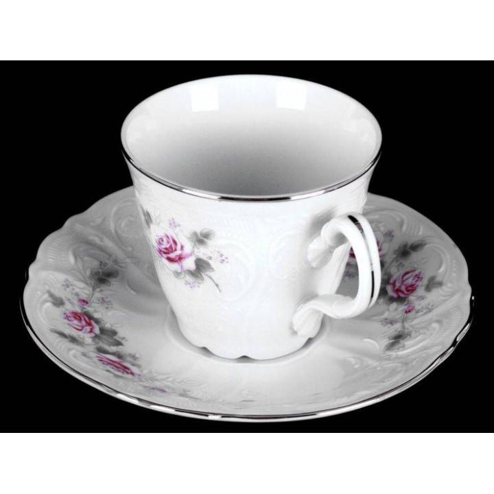 """Набор для чая на 6перс.12пред. выс н/н """"Роза серая платина 5396021"""", наб."""