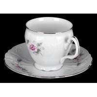 """Набор для чая на 6перс.12пред. выс. """"Роза серая платина 5396021"""", наб."""