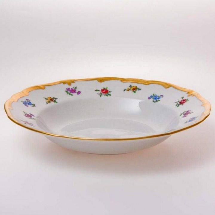 "Набор глубоких тарелок 22см.6шт.""Мейсенский цветок"""