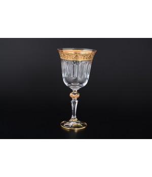 Набор бокалов для вина 220 мл Золото (6 шт) Max Crystal