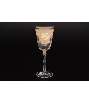 Набор бокалов для вина 250 мл Анжела U-R фон золотой (6 шт)