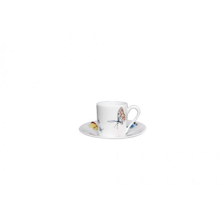 00321/00406 Чашка для мокка с блюдцем Fradkof, Бабочки, 50 мл.