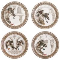 1751B4AD50 Набор тарелок десертных Gien, Лошади ветра, 4 шт., 22 см.