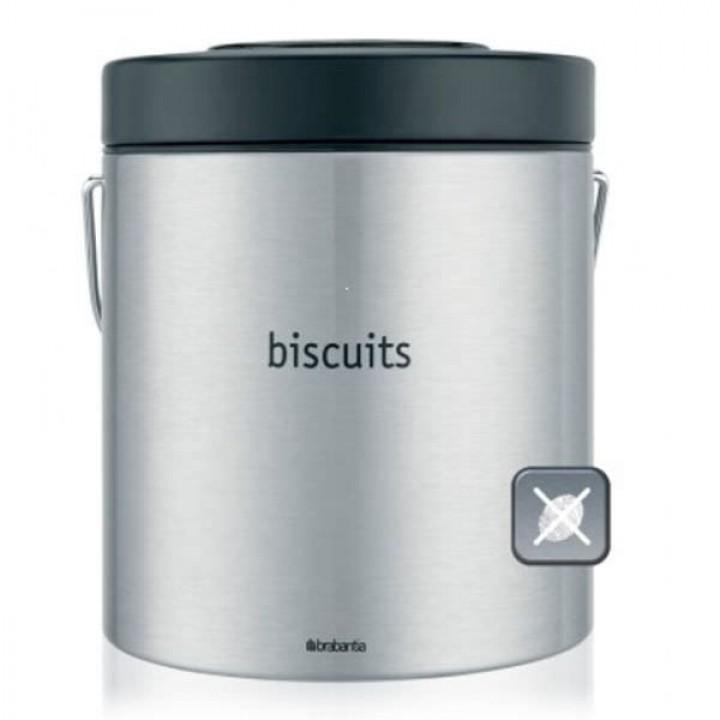 333941 Контейнер для продуктов печенье Brabantia, матовый стальной с защитой от отпечатков пальцев