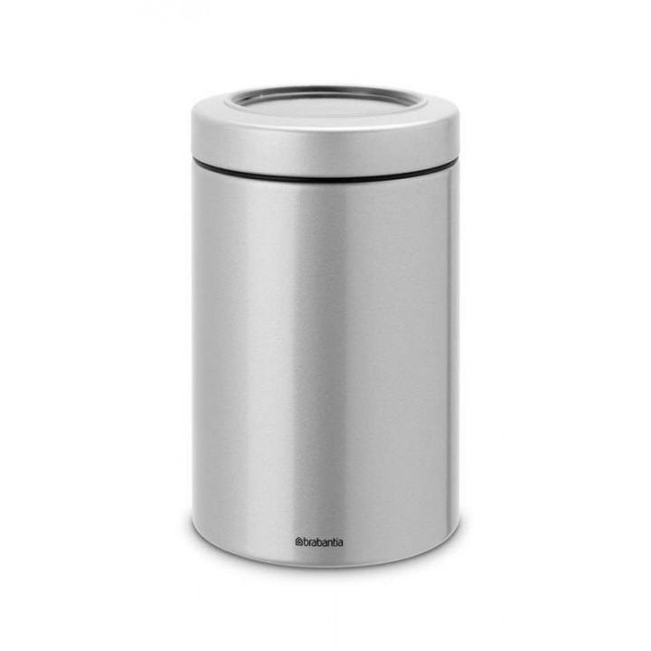 484568 Контейнер с прозрачной крышкой Brabantia, 1,4 л., серый металлик