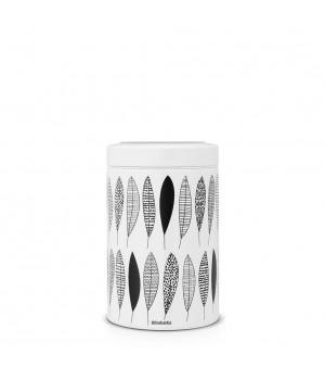 484780 Контейнер с прозрачной крышкой Brabantia, Pauline, 1,4 л., черно-белый
