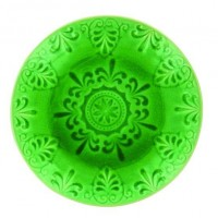 Обеденная тарелка LIFESTYLE, LUGO, зеленая, 26 см.