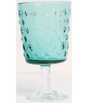 ZN/0038 бокал для воды Union Victors, Знаки, зелено-голубой