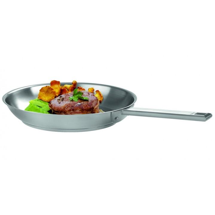 P20SF Сковорода CRISTEL, Стрейт-фикс, 20 см., матированная, внутри нерж.сталь