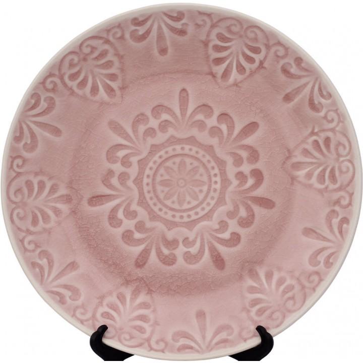 Тарелка LIFESTYLE, LUGO, розовая, 21 см.