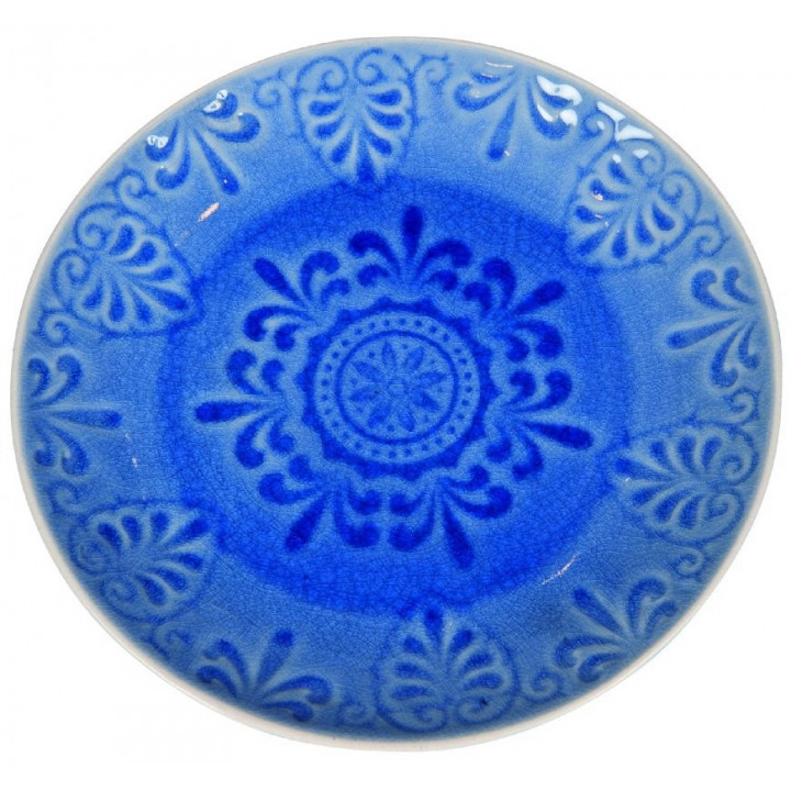 Тарелка LIFESTYLE, LUGO, голубая, 21 см.