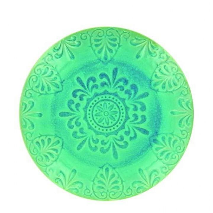 Тарелка LIFESTYLE, LUGO, зеленая, 21 см.