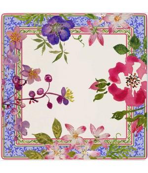 1643CCCP01 Блюдо квадратное малое Gien, Многоцветие, 17x17 см.