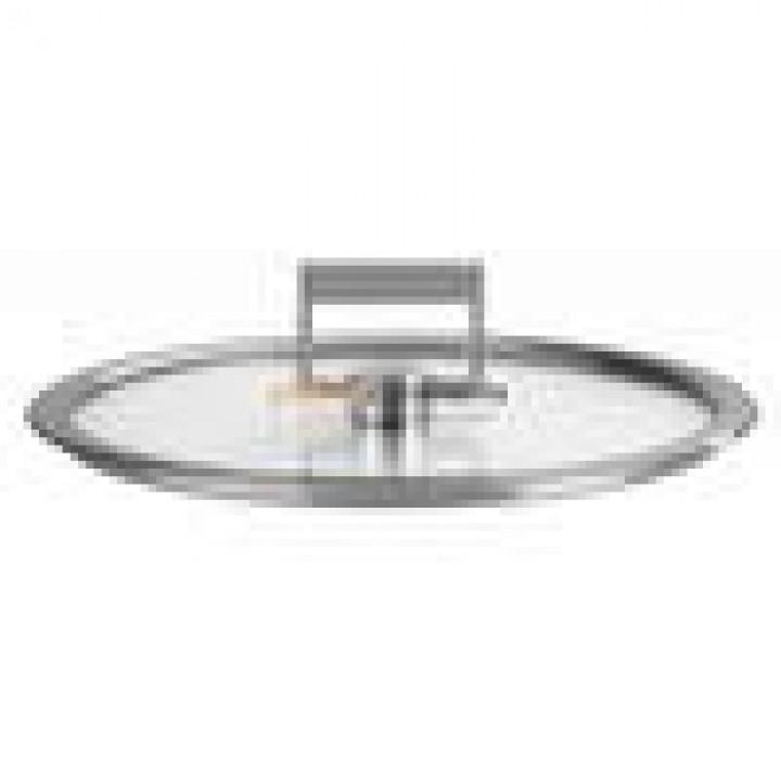 K18SF Крышка CRISTEL, Стрейт-фикс, плоская из стекла, 18 см., с ручкой