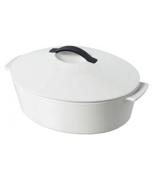 Кухонная посуда REVOL RV1131-84-2000 Овальная кокотница белый сатин индукция