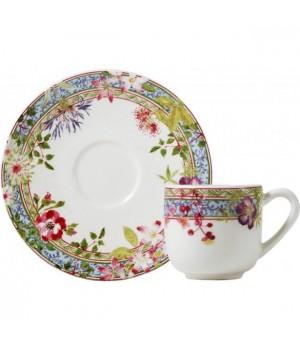16432PTM01 Чашка и блюдце Gien (эспрессо), Многоцветие, 80 мл., 12,9 см.