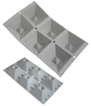 Кухонная посуда DE BUYER серия ЭЛАСТОМУЛЬ 1841.01 Силиконовая форма д/выпечки - Эластомуль Пирамиды
